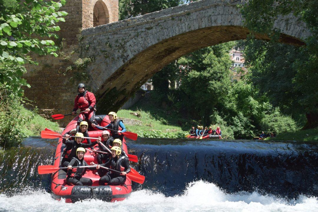 event-Soft Rafting Urbano lungo l'Aniene